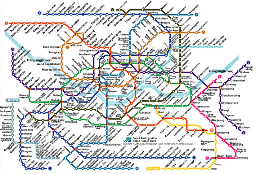 Seoul Subway Map Chinese 2016.How To Get To Myeongdong